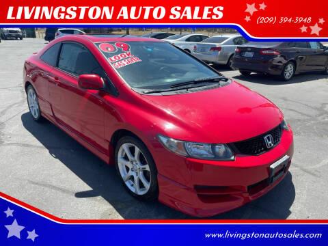 2009 Honda Civic for sale at LIVINGSTON AUTO SALES in Livingston CA