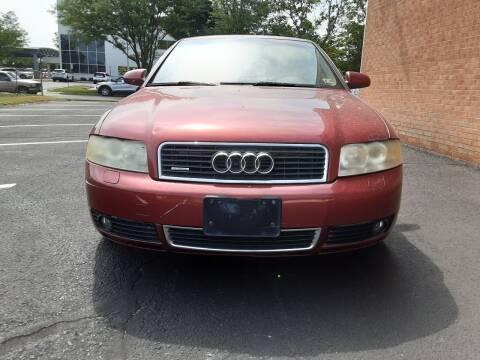 2004 Audi A4 for sale at Fredericksburg Auto Finance Inc. in Fredericksburg VA