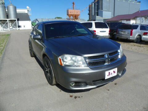 2013 Dodge Avenger for sale at J & S Auto Sales in Thompson ND