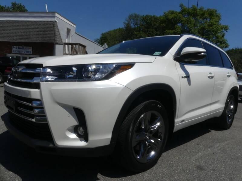 2019 Toyota Highlander Hybrid for sale at P&D Sales in Rockaway NJ