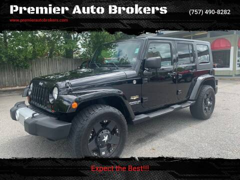 2009 Jeep Wrangler Unlimited for sale at Premier Auto Brokers in Virginia Beach VA
