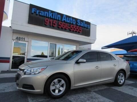 2016 Chevrolet Malibu Limited for sale at Franklin Auto Sales in El Paso TX