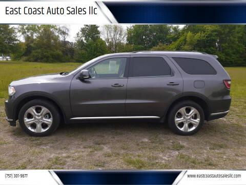 2014 Dodge Durango for sale at East Coast Auto Sales llc in Virginia Beach VA