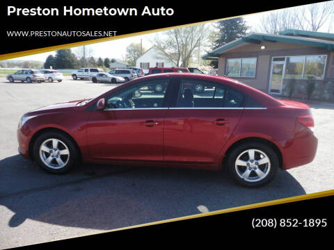 2012 Chevrolet Cruze for sale at Preston Hometown Auto in Preston ID