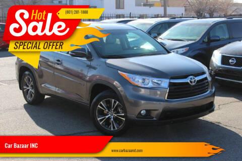 2016 Toyota Highlander for sale at Car Bazaar INC in Salt Lake City UT