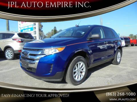 2013 Ford Edge for sale at JPL AUTO EMPIRE INC. in Auburndale FL