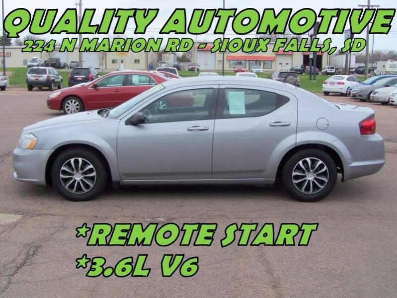 2014 Dodge Avenger for sale at Quality Automotive in Sioux Falls SD