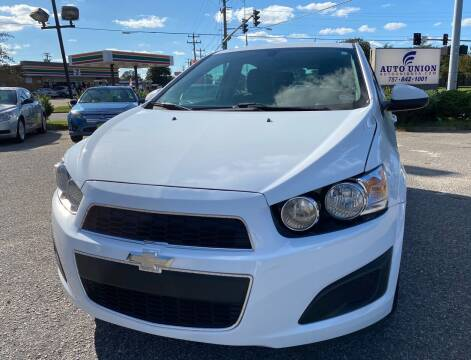 2016 Chevrolet Sonic for sale at Auto Union LLC in Virginia Beach VA