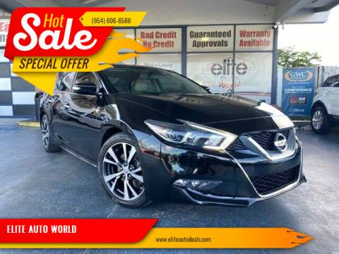 2017 Nissan Maxima for sale at ELITE AUTO WORLD in Fort Lauderdale FL
