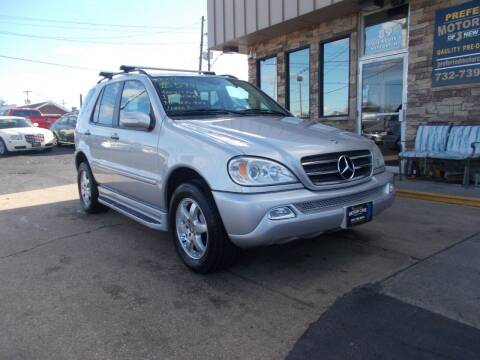 2003 Mercedes-Benz M-Class for sale at Preferred Motor Cars of New Jersey in Keyport NJ