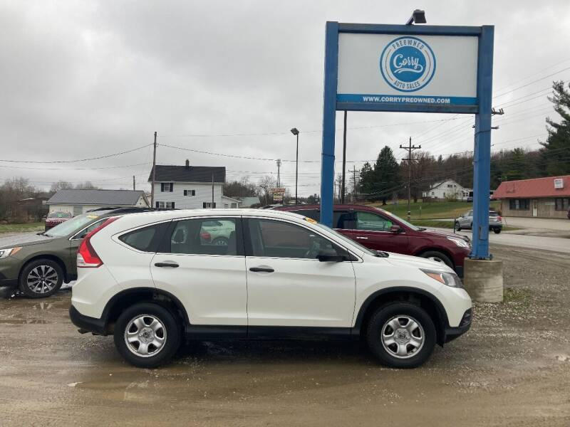 2013 Honda CR-V for sale at Corry Pre Owned Auto Sales in Corry PA
