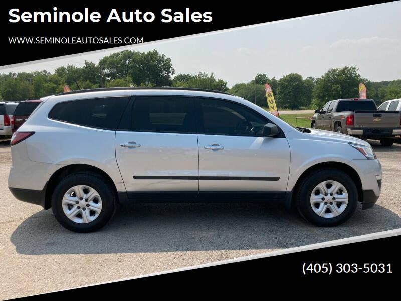 2016 Chevrolet Traverse for sale at Seminole Auto Sales in Seminole OK