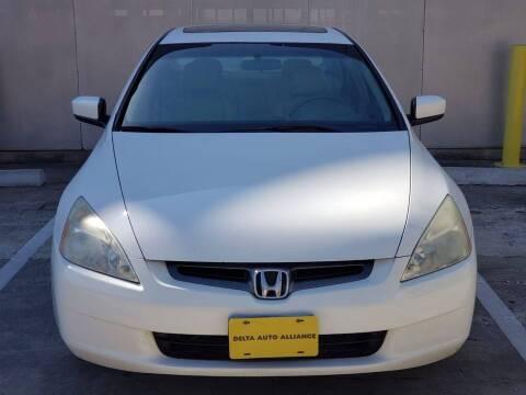2003 Honda Accord for sale at Delta Auto Alliance in Houston TX