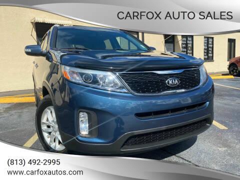 2015 Kia Sorento for sale at Carfox Auto Sales in Tampa FL