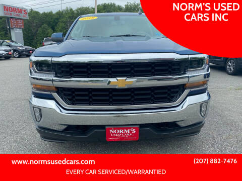 2018 Chevrolet Silverado 1500 for sale at NORM'S USED CARS INC in Wiscasset ME