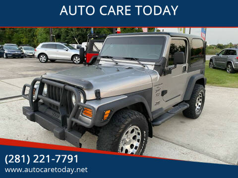 2000 Jeep Wrangler for sale at AUTO CARE TODAY in Spring TX