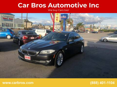 2013 BMW 5 Series for sale at Car Bros Automotive Inc in Lomita CA