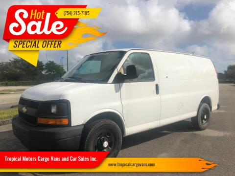 2011 Chevrolet Express Cargo for sale at Tropical Motors Cargo Vans and Car Sales Inc. in Pompano Beach FL