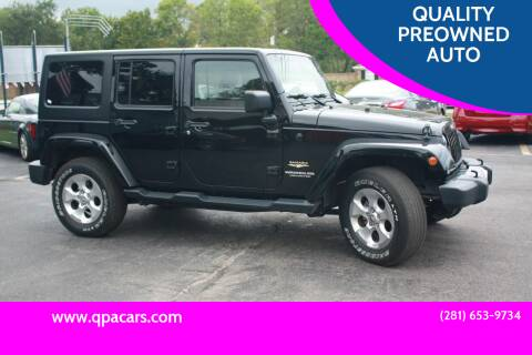 2015 Jeep Wrangler Unlimited for sale at QUALITY PREOWNED AUTO in Houston TX