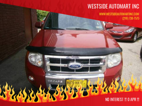 2010 Ford Escape for sale at WESTSIDE AUTOMART INC in Cleveland OH