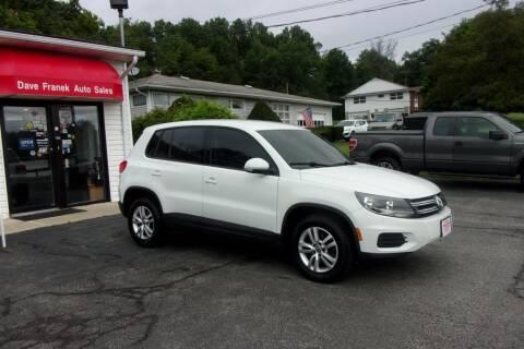 2014 Volkswagen Tiguan for sale at Dave Franek Automotive in Wantage NJ