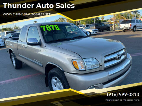 2003 Toyota Tundra for sale at Thunder Auto Sales in Sacramento CA