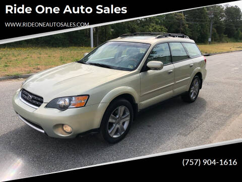2005 Subaru Outback for sale at Ride One Auto Sales in Norfolk VA