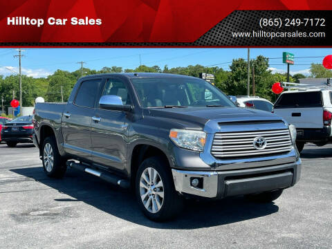 2014 Toyota Tundra for sale at Hilltop Car Sales in Knox TN
