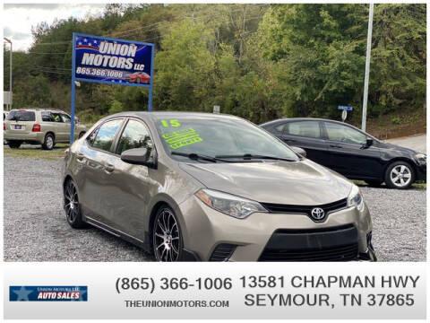 2015 Toyota Corolla for sale at Union Motors in Seymour TN