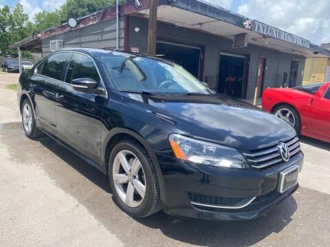 2013 Volkswagen Passat for sale at Texas Luxury Auto in Houston TX