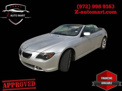 2005 BMW 6 Series for sale at Z AUTO MART in Lewisville TX