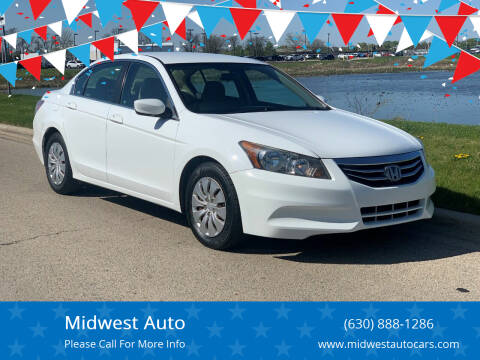 2012 Honda Accord for sale at Midwest Auto in Naperville IL