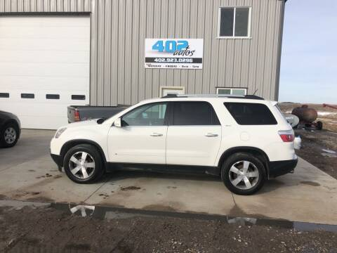2010 GMC Acadia for sale at 402 Autos in Lindsay NE