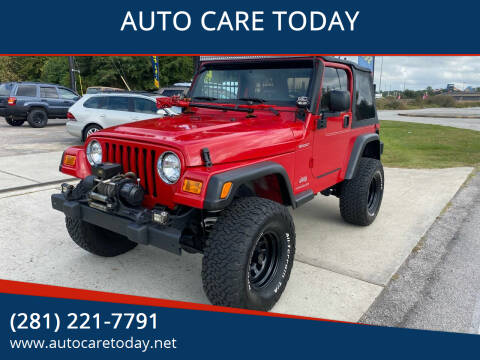 2004 Jeep Wrangler for sale at AUTO CARE TODAY in Spring TX
