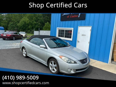 2006 Toyota Camry Solara for sale at Shop Certified Cars in Easton MD