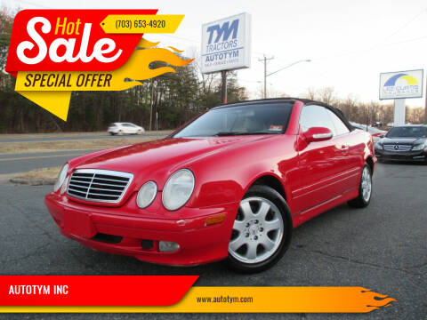 2003 Mercedes-Benz CLK for sale at AUTOTYM INC in Fredericksburg VA