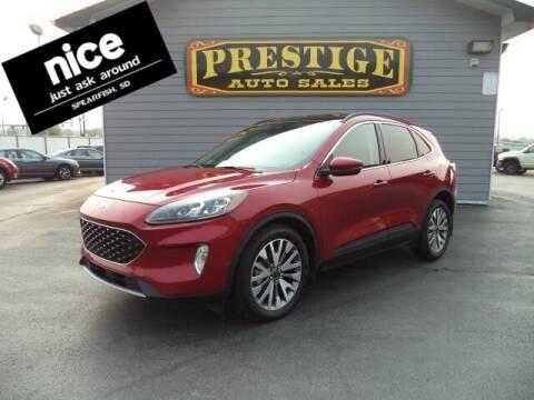 2020 Ford Escape for sale at PRESTIGE AUTO SALES in Spearfish SD