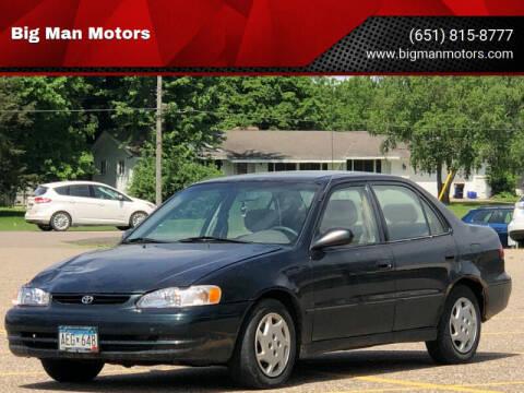 1999 Toyota Corolla for sale at Big Man Motors in Farmington MN