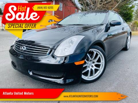 2007 Infiniti G35 for sale at Atlanta United Motors in Buford GA