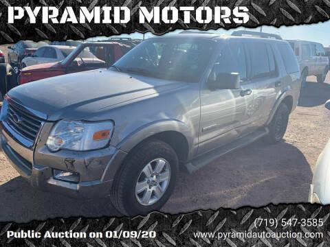 2008 Ford Explorer for sale at PYRAMID MOTORS - Pueblo Lot in Pueblo CO