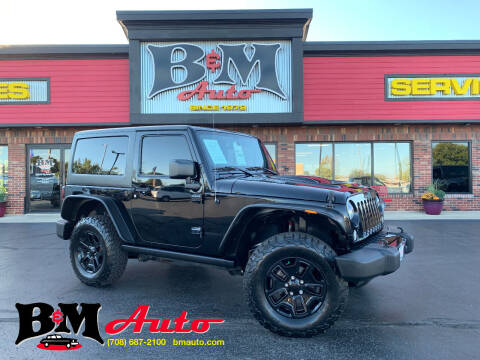 2016 Jeep Wrangler for sale at B & M Auto Sales Inc. in Oak Forest IL