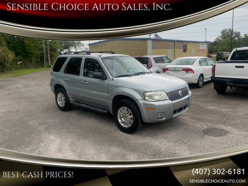 2005 Mercury Mariner for sale at Sensible Choice Auto Sales, Inc. in Longwood FL