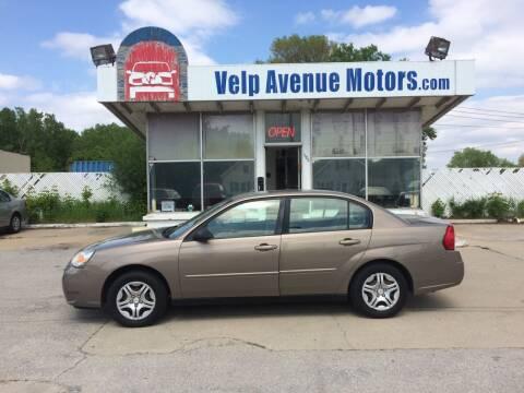 2007 Chevrolet Malibu for sale at Velp Avenue Motors LLC in Green Bay WI