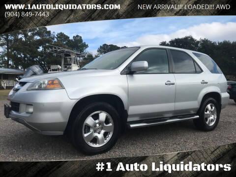 2005 Acura MDX for sale at #1 Auto Liquidators in Yulee FL
