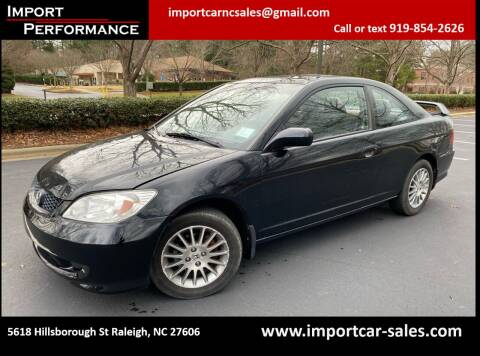 2005 Honda Civic for sale at Import Performance Sales in Raleigh NC