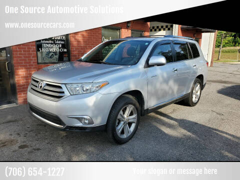 2013 Toyota Highlander for sale at One Source Automotive Solutions in Braselton GA