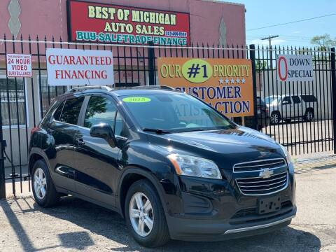 2015 Chevrolet Trax for sale at Best of Michigan Auto Sales in Detroit MI
