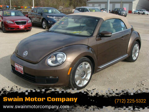 2013 Volkswagen Beetle Convertible for sale at Swain Motor Company in Cherokee IA