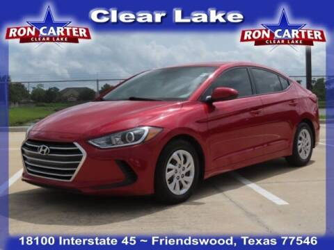 2017 Hyundai Elantra for sale at Ron Carter  Clear Lake Used Cars in Houston TX
