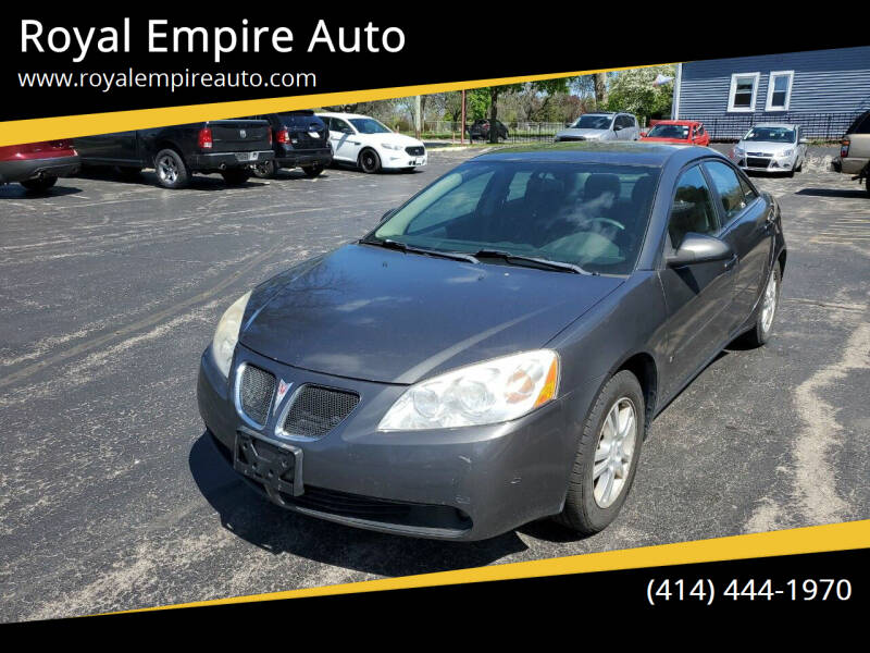2006 Pontiac G6 for sale at Royal Empire Auto in Milwaukee WI